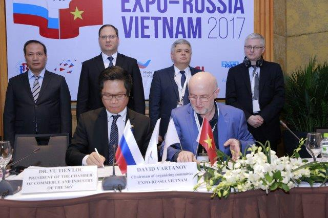 The opening ceremony of the Second International Industrial Exhibition EXPO-RUSSIA VIETNAM 2017